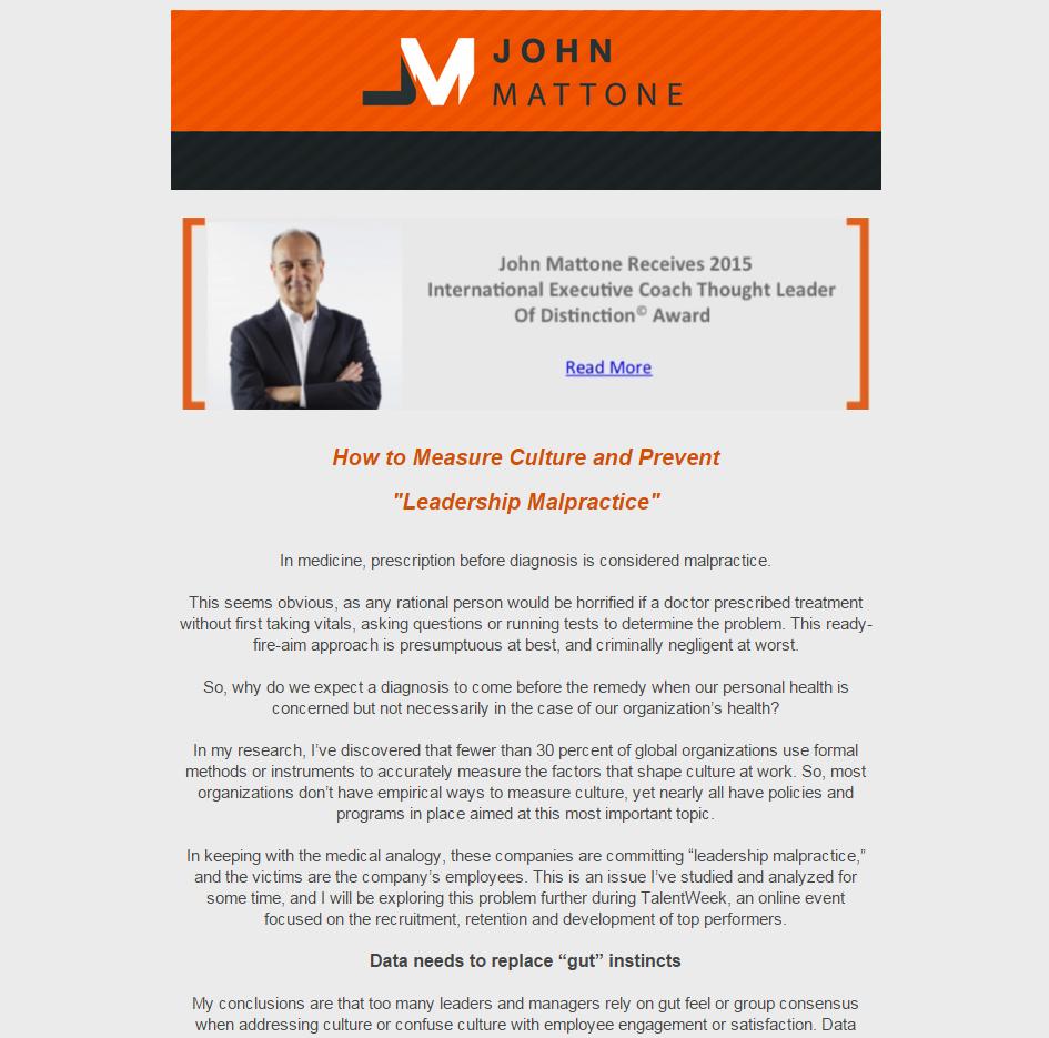 December 2015 - Newsletter Screenshot