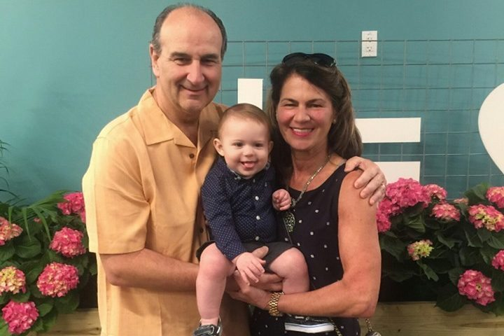 Left to Right - Me, Our Grandson Luke Dominic Mattone, and My wife Gayle