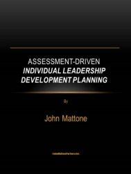Assessment Driven Individual Leadership Development Plan