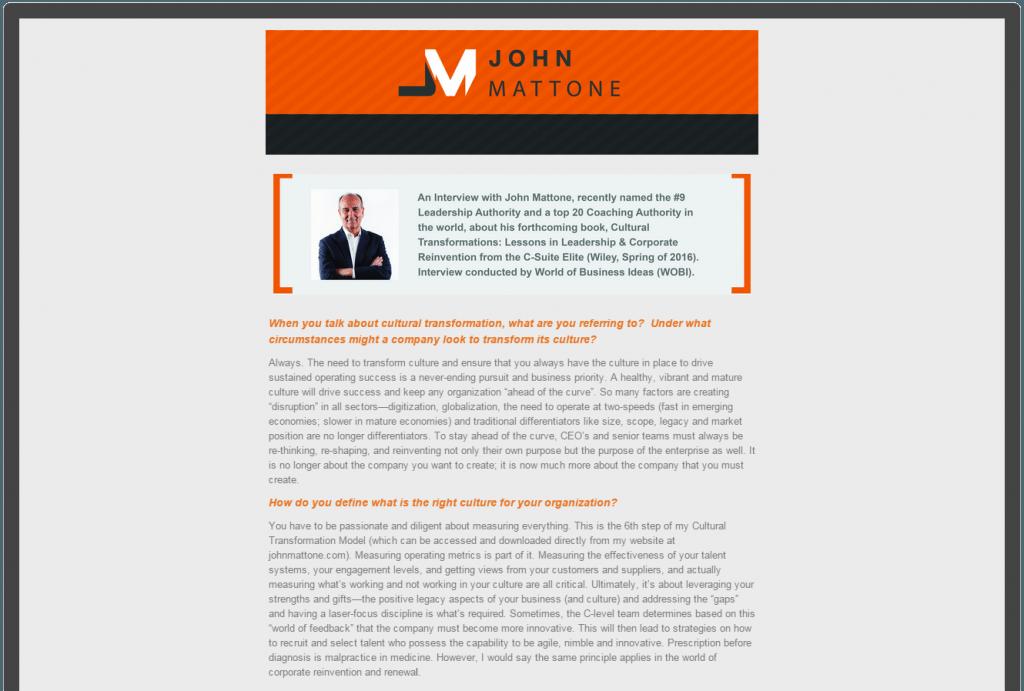 John Mattone Newsletter May 2015