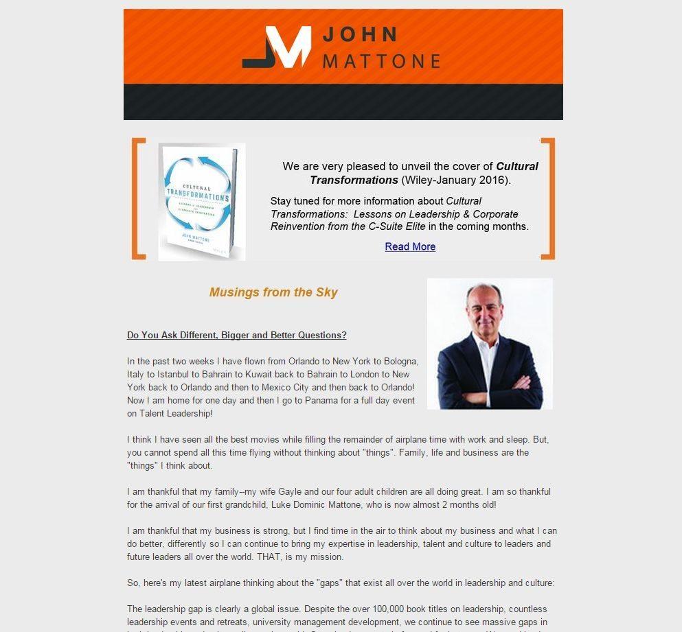 June Newsletter   John Mattone