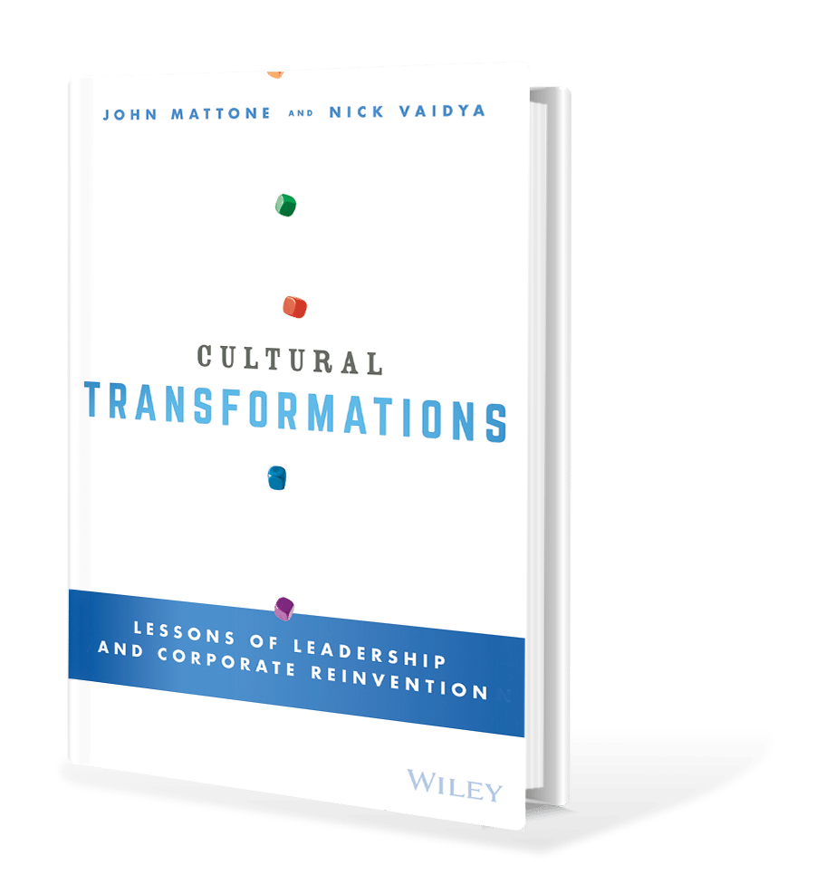 Cultural Transformation Book Cover | John Mattone