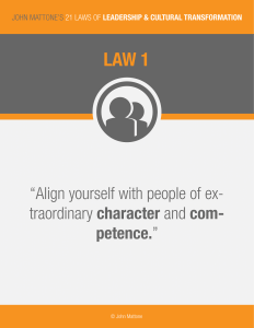 Intelligent Leadership Law #1